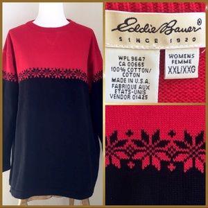 Eddie Bauer winter holiday pullover sweater, XXL